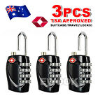 OZ Code Padlock 4 Dial 3x TSA Approved Luggage Security Lock For Travel Suitcase