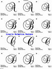 MONOGRAM/CURLY FONT 3sizes (4x4) MACHINE EMBROIDERY