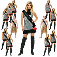 DELUXE HEN STAG PARTY NIGHT SASHES  WITH DIAMONTE WRITING PACK OF 10