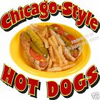 Chicago Style Hot Dogs Hotdogs Restaurant Cart Concession Food Truck Decal 12