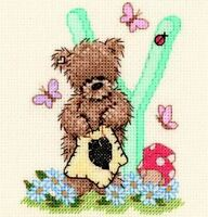 Popcorn Alphabet Counted Cross Stitch Kit PA44 Letter Y
