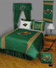 Minnesota Wild NHL Twin Comforter & Sheet Set (4 Piece Bed In A Bag) NEW!