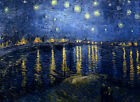 VAN GOGH - Starry Night over the Rhone - EXTRA LARGE CANVAS PRINT A1
