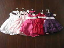 Red Eggplant purple White Fuchsia Pink infant toddler pageant flower girl dress