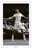 ROGER FEDERER WIMBLEDON TENNIS SIGNED PRINT PHOTO