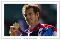 ANDY MURRAY GB GOLD MEDAL TENNIS AUTOGRAPH SIGNED PRINT PHOTO
