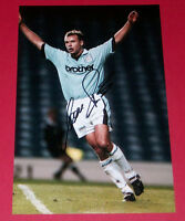 UWE ROSLER MANCHESTER CITY HAND SIGNED 12X8 AUTOGRAPH PHOTO