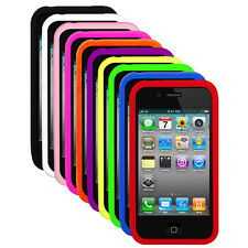 Silicone Soft Rubber Skin Cover Case for Apple iPhone 4S iPhone 4