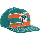 Miami Dolphins 2011 Sideline Players Cap Hat NFL Football Flat Brim Size S/M
