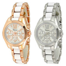 New Geneva 3D Roman Hours Boyfriend Style Women's Watch - 2 Color Choice