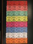 Lot of 100 50/50 Double Stub Raffle Tickets Split the Pot 8 Colors deal tracking
