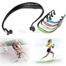 Sport Wireless Headset Headphone Earphone MP3 Music Player Micro SD TF FM Radio