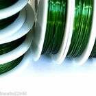 Sale 1 Roll x 7.6M Green Copper Beading Wire Spool 0.6mm