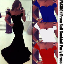 Sexy Women Sleeveless Trumpet Prom Ball Cocktail Party Dress Formal Evening Gown