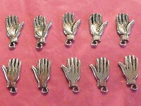 Tibetan Silver Hand/Palm Charm pack of 10  *50 Shades Themes*