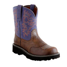 NEW ARIAT 10014036 LADIES FATBABY ORIGINAL FIDDLE BROWN LEATHER COWBOY BOOTS