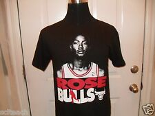 "New Black Adult Chicago Bulls Derrick Rose Majestic ""Game Face"" Player T-Shirt"