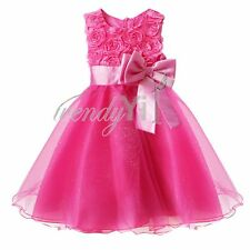 Girls Princess Bow Toddler Baby Wedding Party Pageant Tulle Tutu Xmas Gift Dress