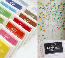 Rubber children kids Cute Stamps Craft Ink Pad for Paper Wood Fabric Colours