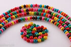 200 pcs 6x4mm Mixed color Wood Spacer loose flat beads Necklace charms findings