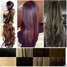 US Mega Thick Half Full Head Clip In Hair Extensions Long Curly Straight GreatAA