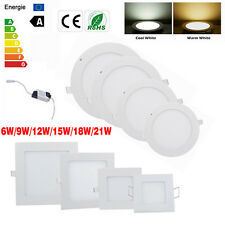 Bombilla Dimmable 9W 12W 15W 18W 21W LED Ceiling Recessed Panel light Lámparas