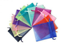 100 200 500 3x4 4x6 5x7 Organza Party Packing Wedding Favor Candy Gift Bags Deco