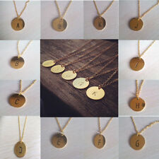 Creative Initial Necklace Personalized Discs Charm Custom Letter Jewelry