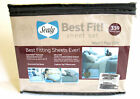 Sealy Best Fit Twin Sheet Set 330 TC in Cappuccino 100% Cotton Sateen