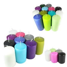 Overdipped Long Burn Wax Church Pillar Candles In Huge Range of Colours
