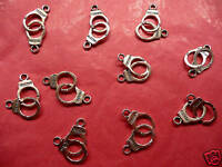 Tibetan Silver Handcuff Charms - 10 per pack *Fifty Shades Themes*