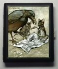 Crow and Mice Gothic Art Metal Wallet Cigarette Case #710