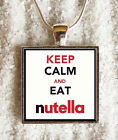 Pendant + CHAIN - ((( Keep calm and eat nutella ))) - INCREDIBLE PRICE!!!!!