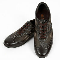 Stylish Lace Brown Casual Sneakers Shoes Mens