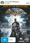 Batman Arkham Asylum Game Of The Year Edition PC 100% Brand New