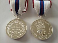 Queens Silver Jubilee Medal, Full Size, 1977, Ribbon, Army, Military, Police