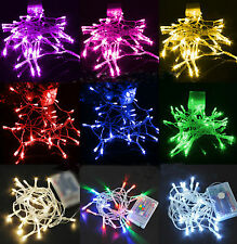 New Outdoor/Indoor Battery Powered LED Fairy String Lights Garden Wedding Party