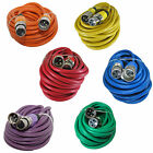 6 mixed color 25 ft foot xlr 3pin male to female mic microphone snake cable cord