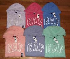 NEW NWT Womens GAP Logo Front Zipper Hooded Sweatshirt Hoodie 6 COLORS to Choose