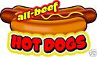 Hot Dogs All Beef Concession Decal 12