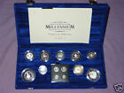 2000 MILLENNIUM SILVER PROOF COLLECTION Inc Maundy Full Packaging