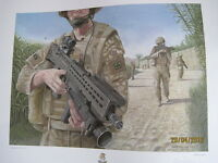 AFGHANISTAN Op Herrick 3rd Bn Yorks 57x47cm limited edition signed C. Palmer x10