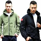Men Warm Winter Fleece Hoody Parka Coat Outdoor Tactical Military Jacket Outwear