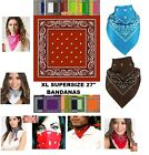 "27x27"" OVERSIZE XL BIG PAISLEY BANDANA Bandanna Head Wrap Scarf COTTON*24 Colors"