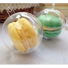 Plastic Clear Round Ball Christmas Bauble Ornament Gift Present Xmas Tree Craft