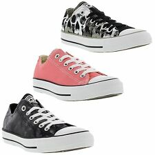 New Converse Trainers All Star CT Oxford Womens Black Pink Shoes Size UK 4-8