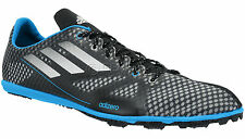 New Adidas Adizero Ambition Mens Track & Field Spikes Running Shoes - Black Blue