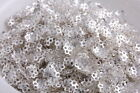 1000pcs A++ silver plated loose beads caps charms findings free ship 6mm