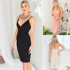 Fashion Sexy Womens Clubwear V Neck Bodycon Cocktail Party Evening Long Dress