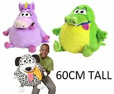 BRAND NEW 60CM TUMMY STUFFERS CUDDLE UP PETS GATOR DOG UNICORN TUMMY STUFFER